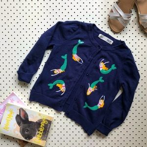 Girls size 5 COTTON ON mermaids embroidered cardi